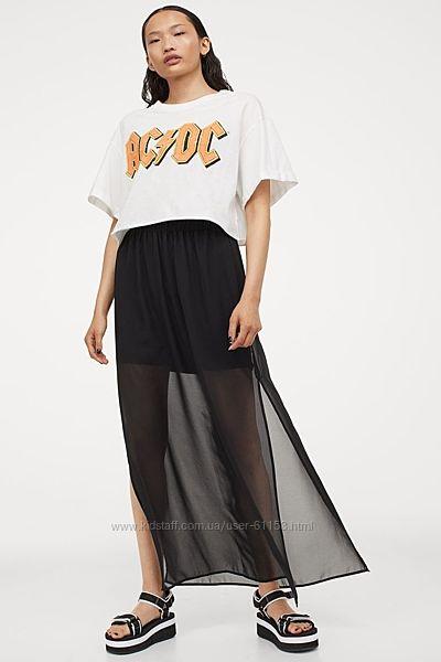 Шифоновая юбка Н&М