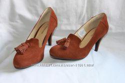 Удобные замшевые туфли лоферы Patrizia Dini