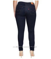 Темносиние зауженные джинсы скинни LEVIS 535  бедра 108-116,  115-124