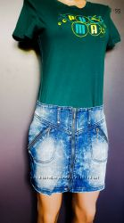 Джинсовая юбка на замке La Redoute Франция  С, М, Л
