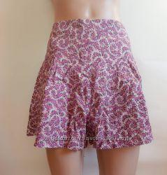 Шорты юбка с цветочек, М  44-46 Love Label  вискоза Великобритания