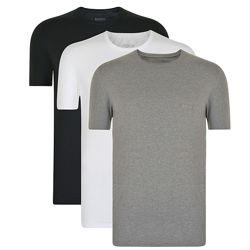 Однотонная мужская футболка с круглым вырезом и короткими рукавами премиум