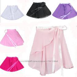 Юбка хитон для танцев юбка с запахом черная белая розовая малиновая