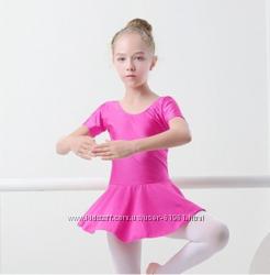 Купальник с пришитой юбкой танцевальное платье  с 3 до 9 лет  цвета