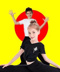 Черные брюки для спортивных бальных танцев трикотаж  с 94 до 175 рост