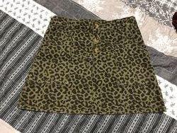 Леопардовая юбка Zara на 8-10 лет