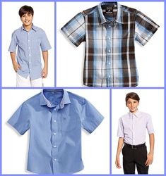 Рубашки с коротким рукавом С&А р. 98, 110, 122, 140