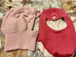 Шапка шлем розовый