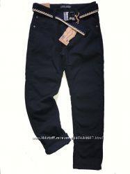 Утеплённые классические брюки для подростков р. 140