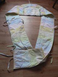 Защита и кармашек на кроватку Слоненок, фирма Агу