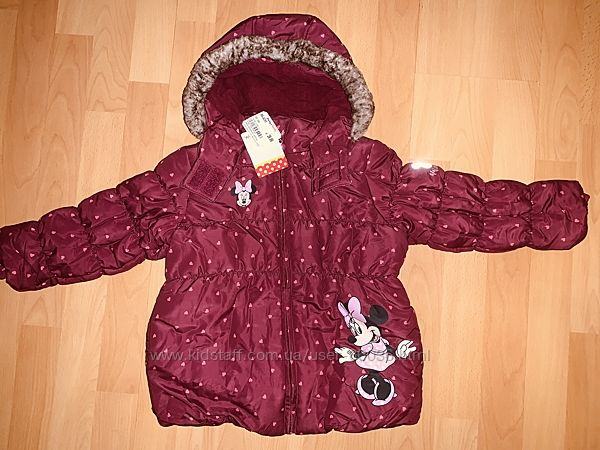 Тёплая удлиненная куртка Topomini Minnie Mouse 98, 104 р новая