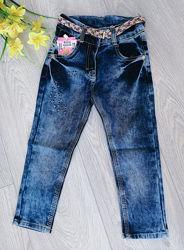 джинсы для девочки с пояском размеры от 2 до 7 лет