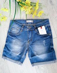 джинсовые шорты унисекс, удлиненные, размеры от 2 до 12 лет