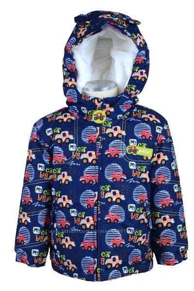 Термо куртки для малышей 80-92р Машинки от ТМ Pidilidi