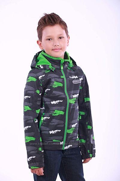 Демисезонные куртки 86-164р Softshell хаки от ТМ Pidilidi