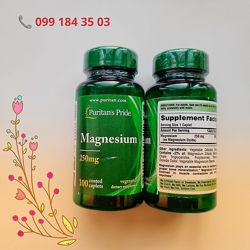 Магний Magnesium 250 мг, 100 капсул
