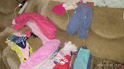 Пакет одежды на девочку 3-9мес. Комбинезон зимний и осенний