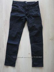 Черные коттоновые брюки H&M