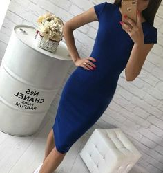Стильное  платье для стройной девушки