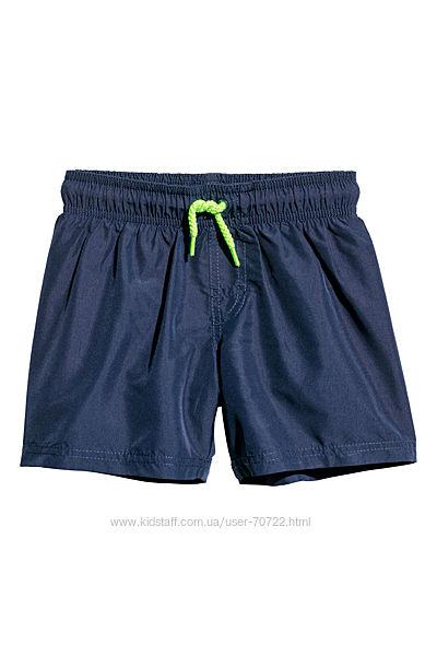 Пляжные шорты h&m 4-6лет р. 110-116