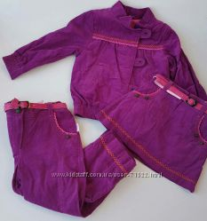 Куртка ветровка 86 92 демисезонная вельвет для девочки красивая В Наличии