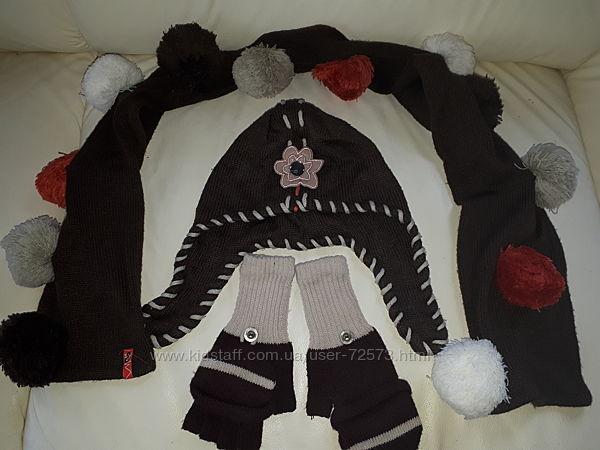 Комплект Wojcik, шапка, шарф, перчатки, 9-12 лет