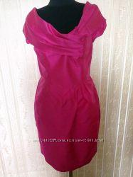 Коктейльное платье цвета фуксии,  шёлк.
