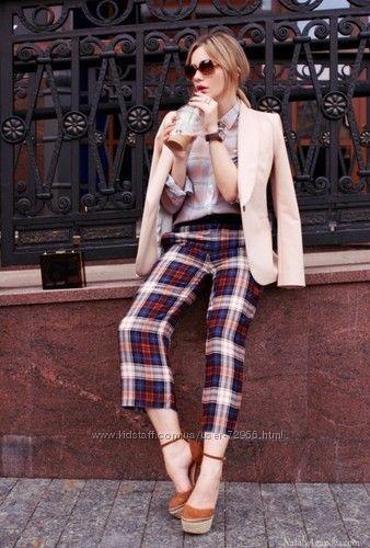 Шелковые брюки-кюлоты  фирмы Zara
