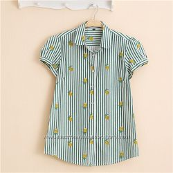 Блузки с принтом, десять вариантов расцветок, короткий рукав. Хлопок.