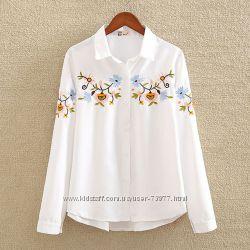 Блузки с вышивкой, под заказ