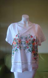 Распродажа. Нежная брендовая топ-блуза в цветы. Греция. L, XL Size. Наличие