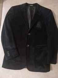 Велюровый классический пиджак