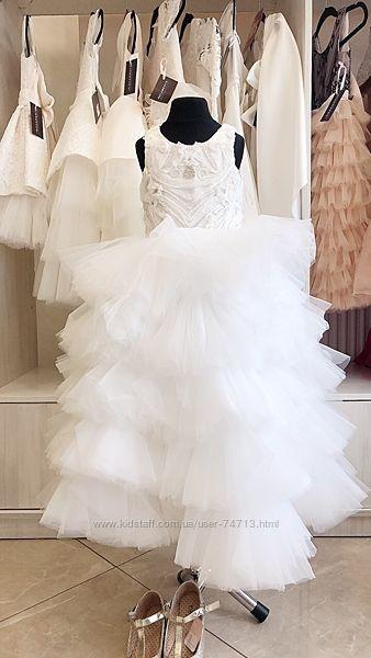 Шикарное дизайнерское пышное платье 122, 128, выпускной