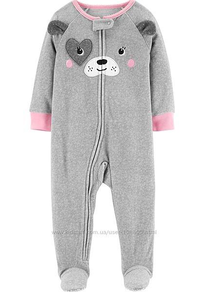 пижамы человечки флисовые Carters , хлопок Gymboree оригинал
