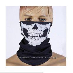 Баф, маска, мультиповязка - балаклава - бандана череп, зомби