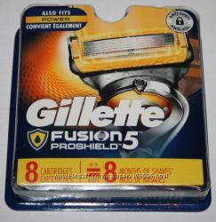 Сменные картриджи GILLETTE Fusion Proshield и Proshield Chill оригинал США
