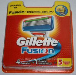 Сменные картриджи GILLETTE Fusion 4 плюс 1 ProShield оригинал