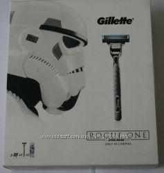 Станок GILLETTE mach3 turbo 3 картриджа и гель для бритья по супер цене