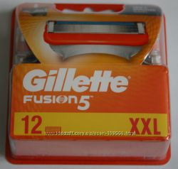 Gillette fusion power оригинал 12 штук в упаковке производство Германия