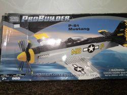 Оригинал Mega bloks ProBuilder p-51 mustang