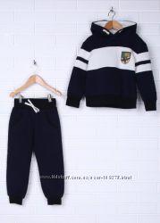 Baby Angel теплый трикотажный костюм для мальчика м 555 цвет синий р110, 122