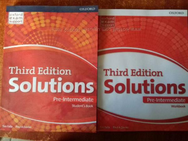 Solution pre-intermediate английский учебник и рабочая тетрадь