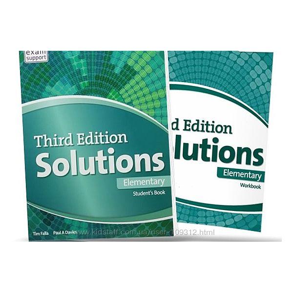 Solution elementary английский учебник и рабочая тетрадь