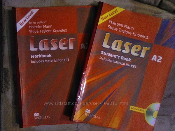 Laser A2 английский учебник и рабочая тетрадь