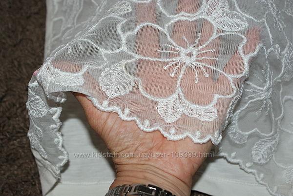 Нарядная кружевная блузка, футболка sisley