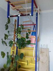 Шведская стенка мат лестница груша кольца канат