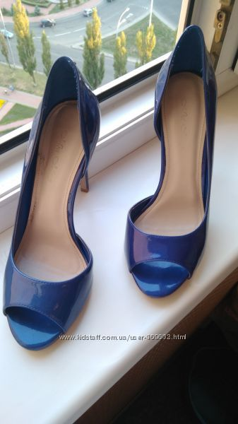 Синие лаковые туфли - босоножки Mia May от Miraton