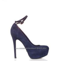 Туфли синие замшевые MiaMay  от Miraton