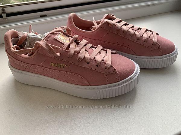 Кроссовки новые розовые Puma Suede Platform