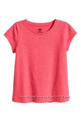 Яркая футболка для девочек H&M 4-6, 6-8 лет